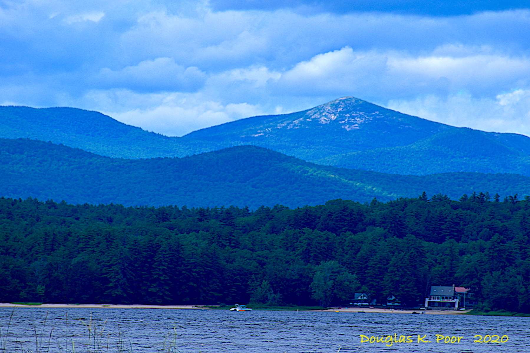 BALDFACE MOUNTAIN FROM LOVEWELL POND PICTURE BY DOUGLAS POOR