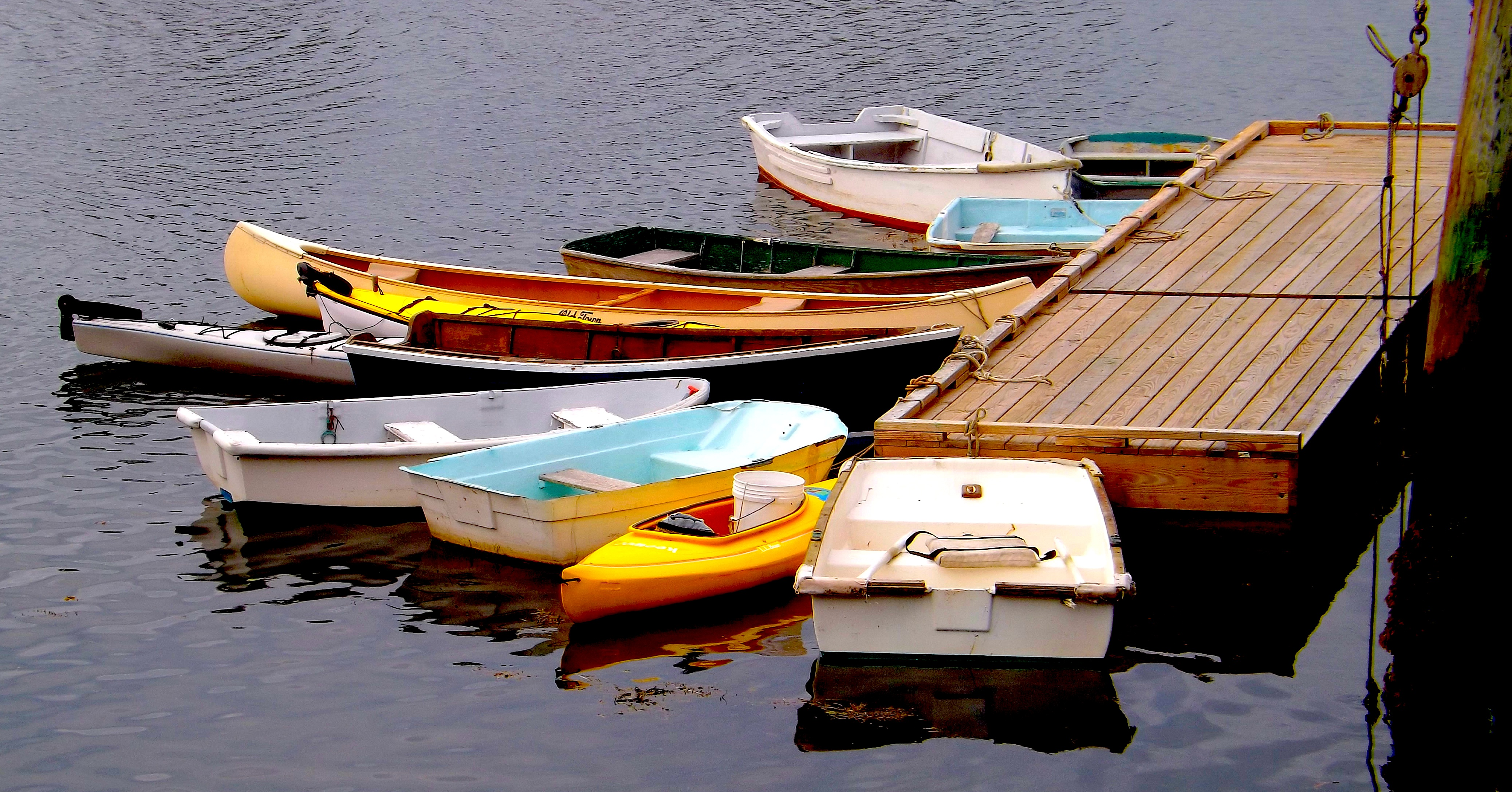 =======DINGHYS AT THE DOCK IN PERKINS COVE OGUNQUIT MAINE===================================================================================================================DINGHYS AT THE DOCK IN PERKINS COVE OGUNQUIT MAINE